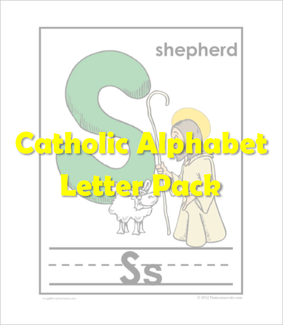 Catholic Alphabet Pack Letter S