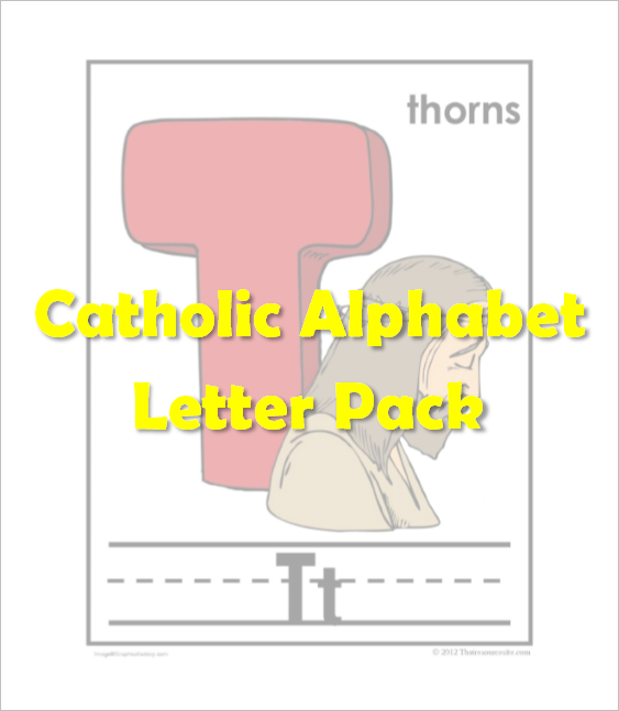 Catholic Alphabet Pack Letter T