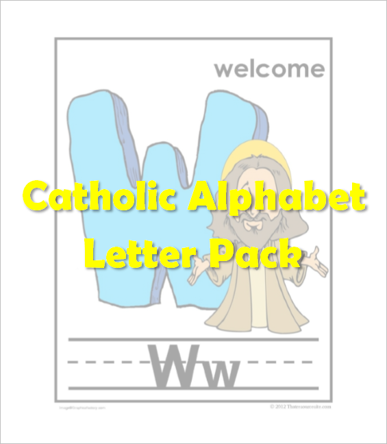 Catholic Alphabet Pack Letter W