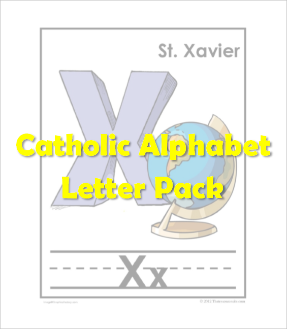 Catholic Alphabet Pack Letter X