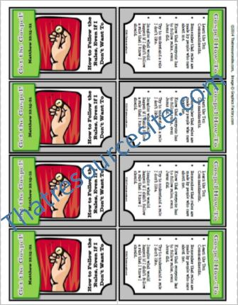 Get the Gospel! Trading Card on How to Follow the Rules, Even If I Don't Want to