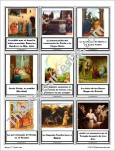 Little Timeline of the Life of Christ in Spanish