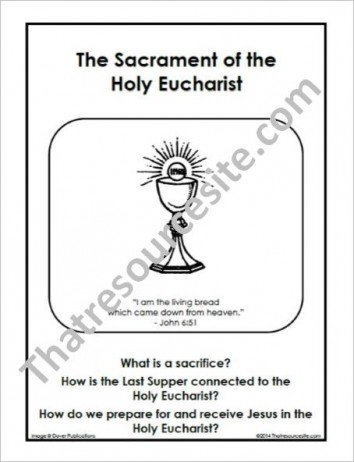 F3 Folder Lesson on the Sacrament of the Holy Eucharist