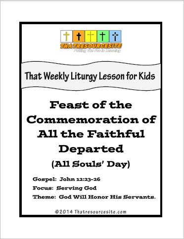 Weekly Liturgy Lesson – Feast of the Commemoration of the Faithful Departed (All Souls' Day)
