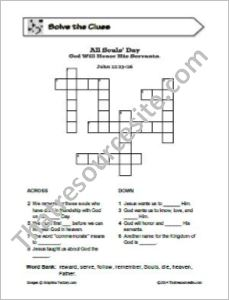 All Souls' Day Crossword Puzzle