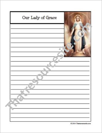 Our Lady of Grace Notebooking Set