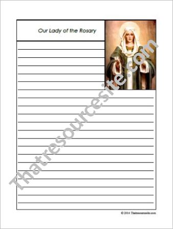 Our Lady of the Rosary Notebooking Set