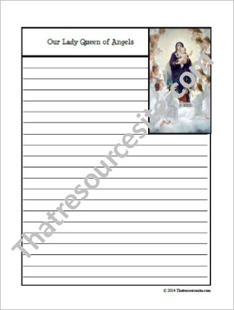Our Lady Queen of Angels Notebooking Set
