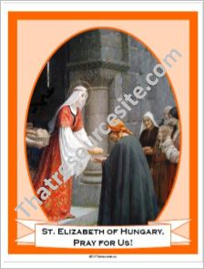 St. Elizabeth of Hungary Poster