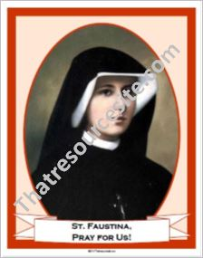 St. Faustina Poster
