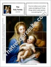 Picture Puzzle of the Holy Family – Luke 2:33
