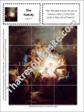 Picture Puzzle of the Nativity – Luke 2:11