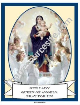 Our Lady Queen of Angels Poster