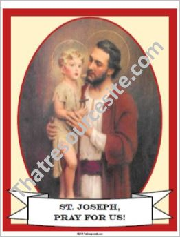 St. Joseph and the Child Jesus Poster