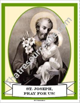 Poster of St. Joseph and the Christ Child