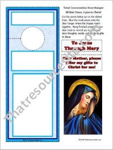 Total Consecration to Jesus Through Mary Door Hanger
