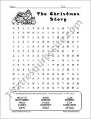 The Christmas Story Word Search