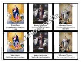 Mary the Immaculate Conception 3-Part Montessori Cards