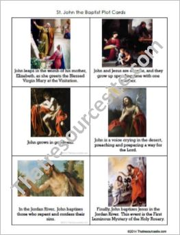 St. John the Baptist Plot Cards