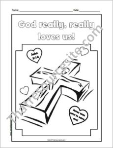 God Really, Really Loves Us Coloring Sheet