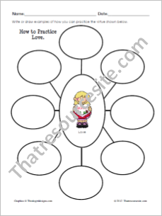 How to Practice Love Graphic Organizer Worksheet