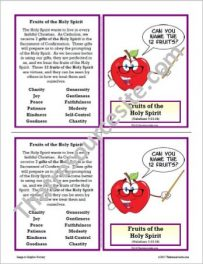 12 Fruits of the Holy Spirit Learning Card