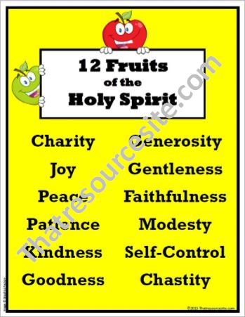 12 Fruits of the Holy Spirit Poster Set - That Resource Site