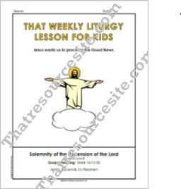 Weekly Liturgy Lesson – Solemnity of the Ascension of the Lord (Cycle B)