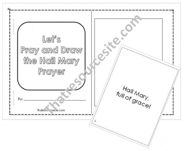 Let's Pray and Draw the Hail Mary Prayer Mini-Book