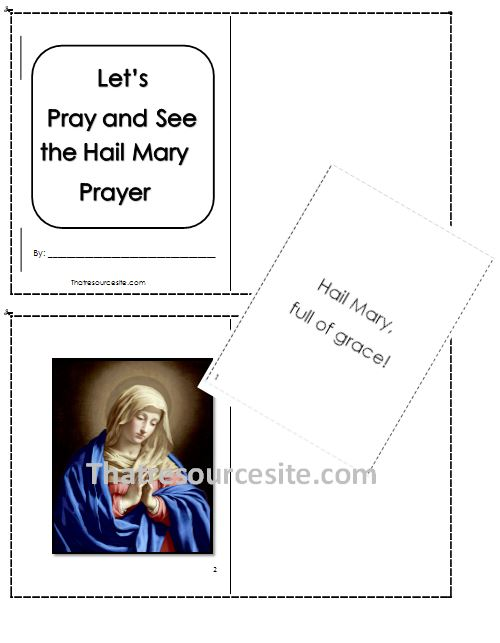 Let's Pray and See the Hail Mary Prayer Mini-Book