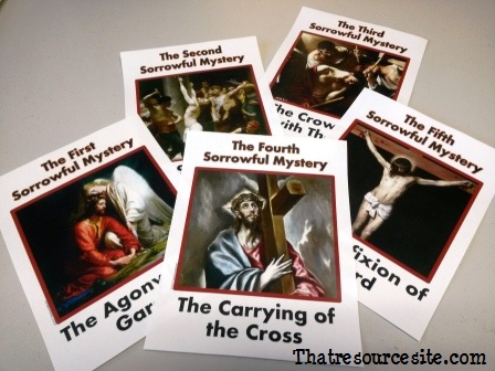 Sorrowful Mysteries of the Holy Rosary Poster Set