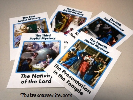 Joyful Mysteries of the Holy Rosary Poster Set