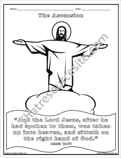 The Ascension of the Lord Coloring Sheet