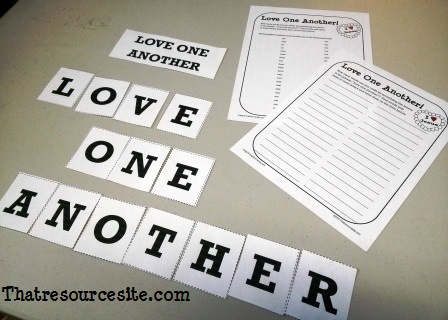 Love One Another Word Scramble Game