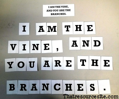 Vine and Branches Letter Scramble Game