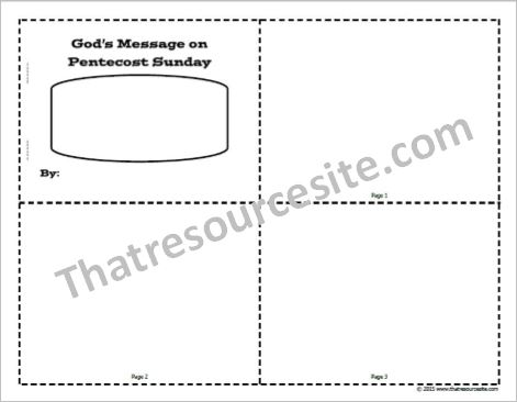 Pentecost Sunday Mini-Book