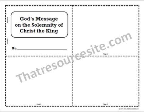 Solemnity of Christ the King Mini-Book