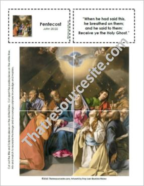 Picture Puzzle of the Descent of the Holy Spirit (Pentecost)