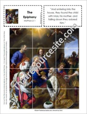 Picture Puzzle of the Visit from the Magi (Epiphany)