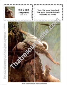 Picture Puzzle of the Good Shepherd
