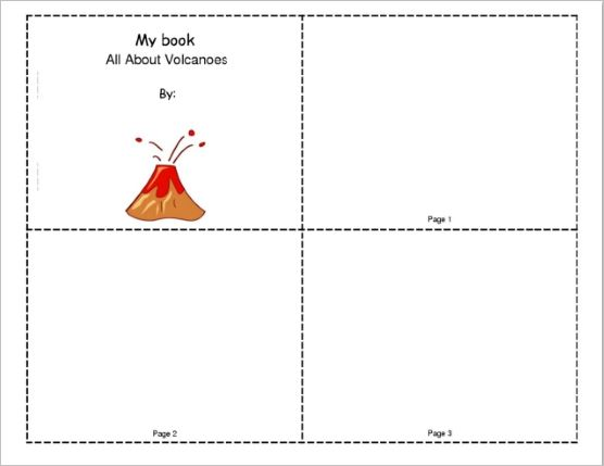 Science Mini-Book to Narrate About Volcanoes