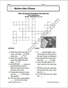 The Epiphany Crossword Puzzle