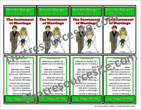 Get the Gospel Trading Card on the Sacrament of Marriage