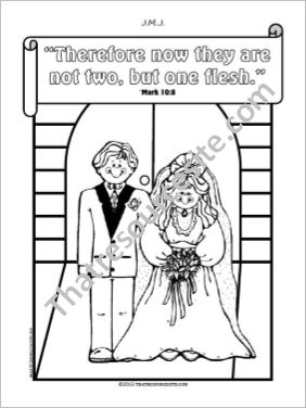 Sacrament of Marriage – Two Become One Coloring Sheet