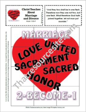 Picture Puzzle of the Sacrament of Marriage