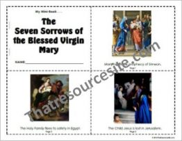 Seven Sorrows of the Blessed Virgin Mary Mini-Book