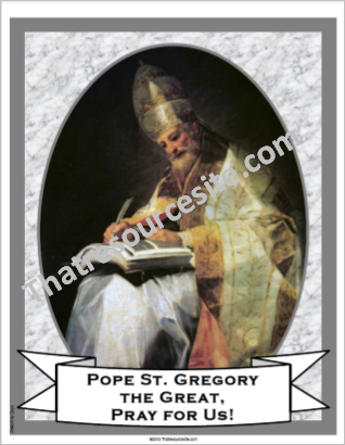 Pope St. Gregory the Great Poster