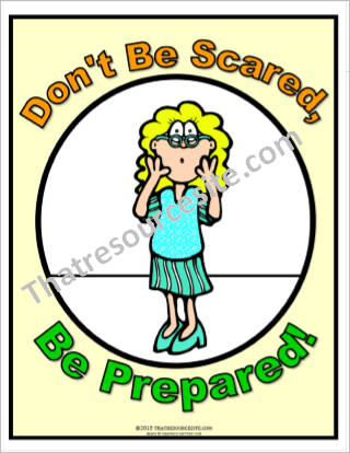 Don't Be Scared, Be Prepared! Poster
