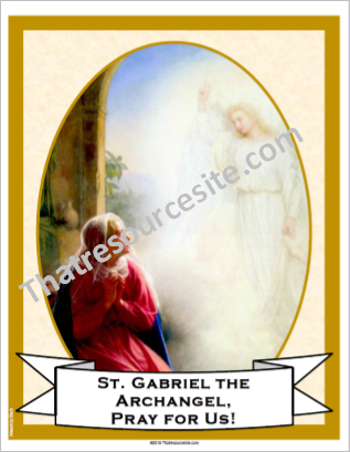 St. Gabriel the Archangel Poster