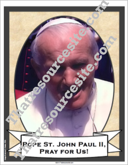 Pope St. John Paul II Poster – Version 1